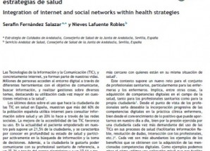 Editorial: Integración de internet y las redes sociales en las estrategias de salud